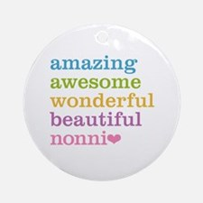 Nonni - Amazing Awesome Ornament (Round)