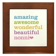 Nonni - Amazing Awesome Framed Tile