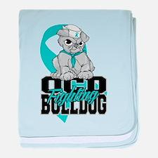 OCD Bulldog baby blanket