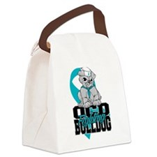 OCD Bulldog Canvas Lunch Bag