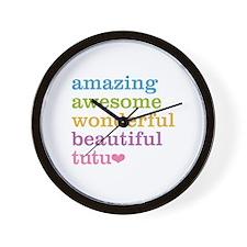 Tutu - Amazing Awesome Wall Clock