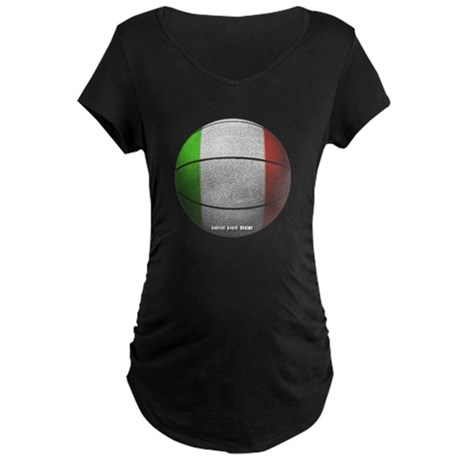 Italian Basketball Maternity Dark T-Shirt