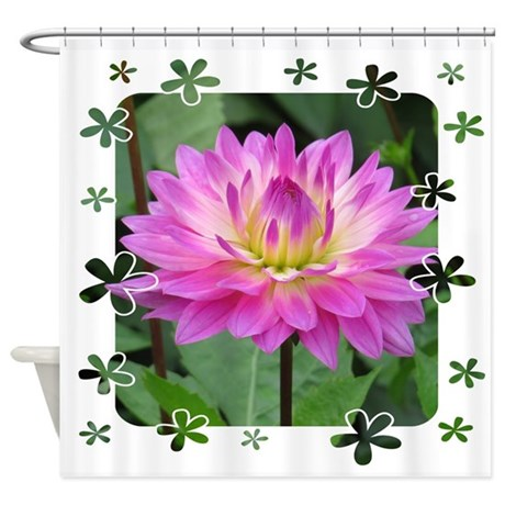 Purple Yellow Dahlia Shower Curtain By Picsofnature
