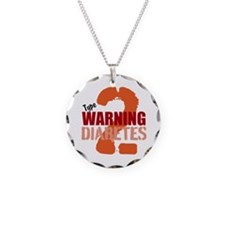 Warning Type 2 Diabetes Necklace Circle Charm