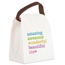 Zia - Amazing Awesome Canvas Lunch Bag