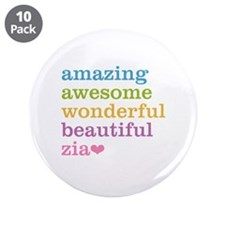 "Zia - Amazing Awesome 3.5"" Button (10 pack)"