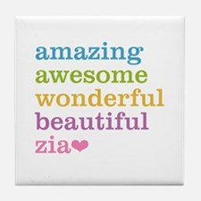 Zia - Amazing Awesome Tile Coaster
