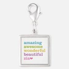 Zia - Amazing Awesome Silver Square Charm