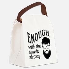 Beards Canvas Lunch Bag