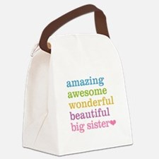 Big Sister - Amazing Awesome Canvas Lunch Bag