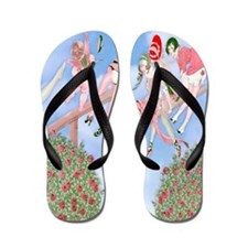 Game Of Love -Gerda Wegener Flip Flops