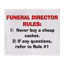 Funeral Director Rules Throw Blanket