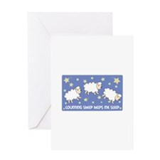 Counting Sheep Helps Me Sleep Greeting Cards