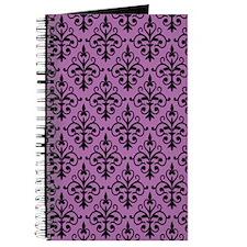Radiant Orchid & Black Damask 41 Journal