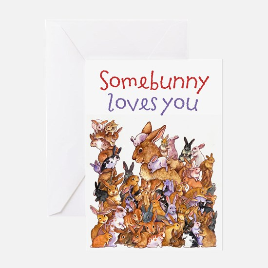 """Somebunny Loves You"" Card Greeting Card"