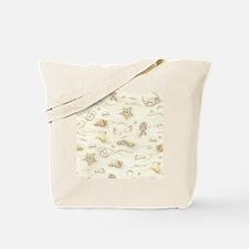 Vintage Summer Beach Pattern Tote Bag