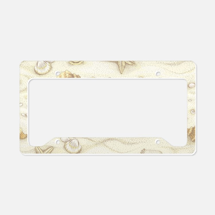 Vintage Summer Beach Pattern License Plate Holder