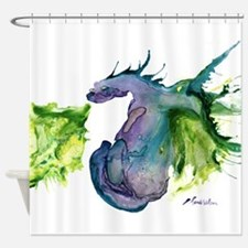 Wildfire Water Dragon Shower Curtain