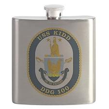 DDG 100 USS Kidd Flask
