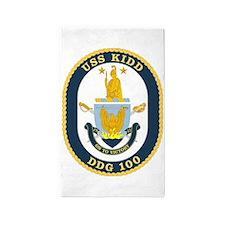 DDG 100 USS Kidd 3'x5' Area Rug