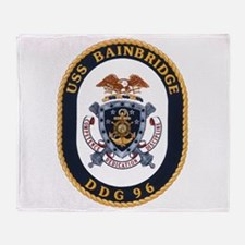 DDG 96 USS Bainbridge Throw Blanket