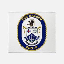 DDG 97 USS Halsey Throw Blanket