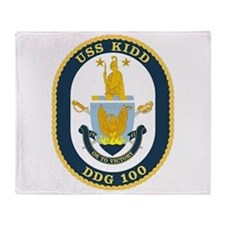 DDG 100 USS Kidd Throw Blanket