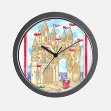 Sandcastle  Wall Clock