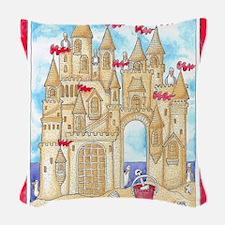 Sandcastle  Woven Throw Pillow