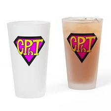 Superhero Technician Drinking Glass