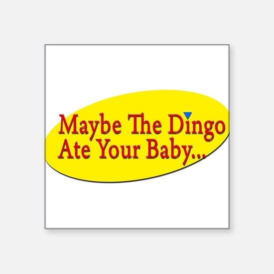 "Cute Dingo Square Sticker 3"" x 3"""