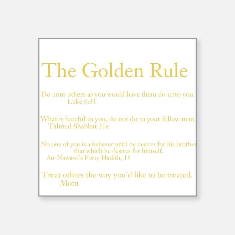 Golden Rule Week Sticker