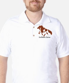 Red Pinto Icelandic horse doing the told T-Shirt