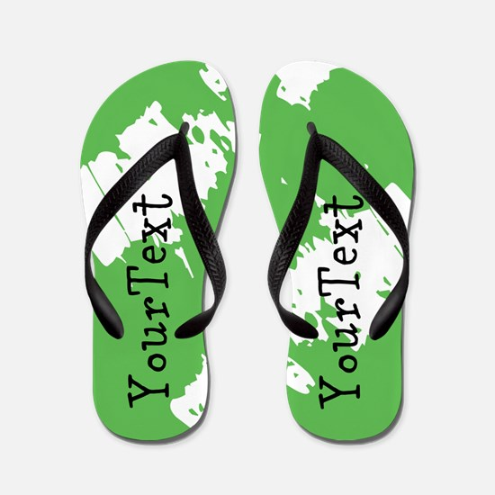 Abstract Green Personalized Flip Flops