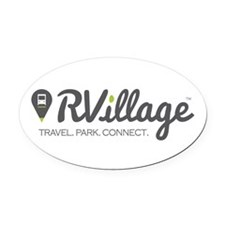 Rvillage Logo Oval Car Magnet