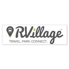 Rvillage Logo Bumper Bumper Stickers