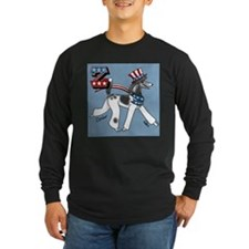 Patriotic Poodle! Long Sleeve T-Shirt