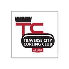 "Tc Curling Club Square Sticker 3"" X 3"""