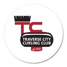 Tc Curling Club Round Car Magnet