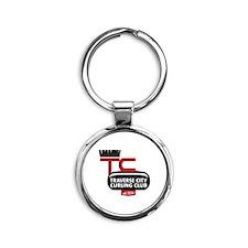 Tc Curling Club Round Keychain Keychains