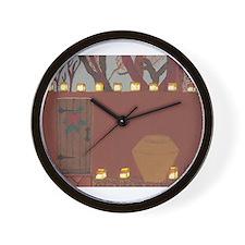 La Noche Buena Adobe Wall Wall Clock