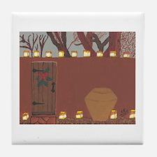 La Noche Buena Adobe Wall Tile Coaster
