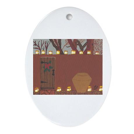 La Noche Buena Adobe Wall Oval Ornament
