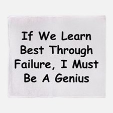 If We Learn Best Through Failure Throw Blanket