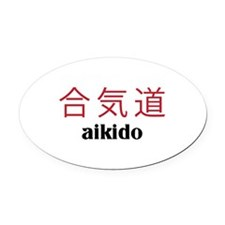 Aikido Oval Car Magnet