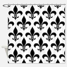 French fleur de lis Pattern Parisian Design Shower