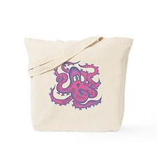Pink & Purple Octopus Tote Bag