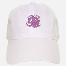 Pink & Purple Octopus Baseball Baseball Cap