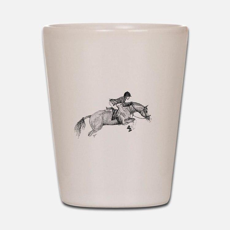 Hunter Jumper Pony Shot Glass