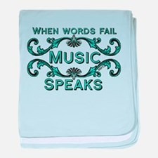 Music Speaks baby blanket